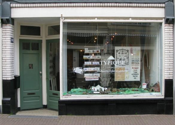 Typique Typographical Boutique located at 123 Haarlemmerdijk, Amsterdam