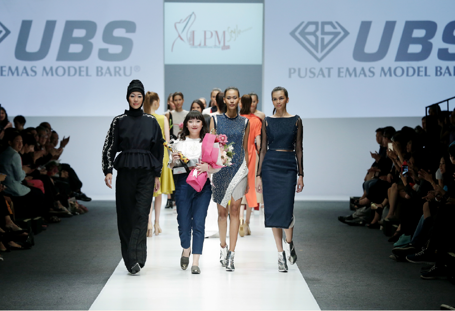 Ninette Marasuchi as Second Winner of Lomba Perancang Mode 2015 Femina Group, Jakarta Fashion Week 2015