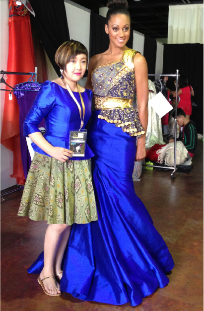Ninette sponsored Miss Canada Camille Munroe at Miss World Beauty Pagent 2013
